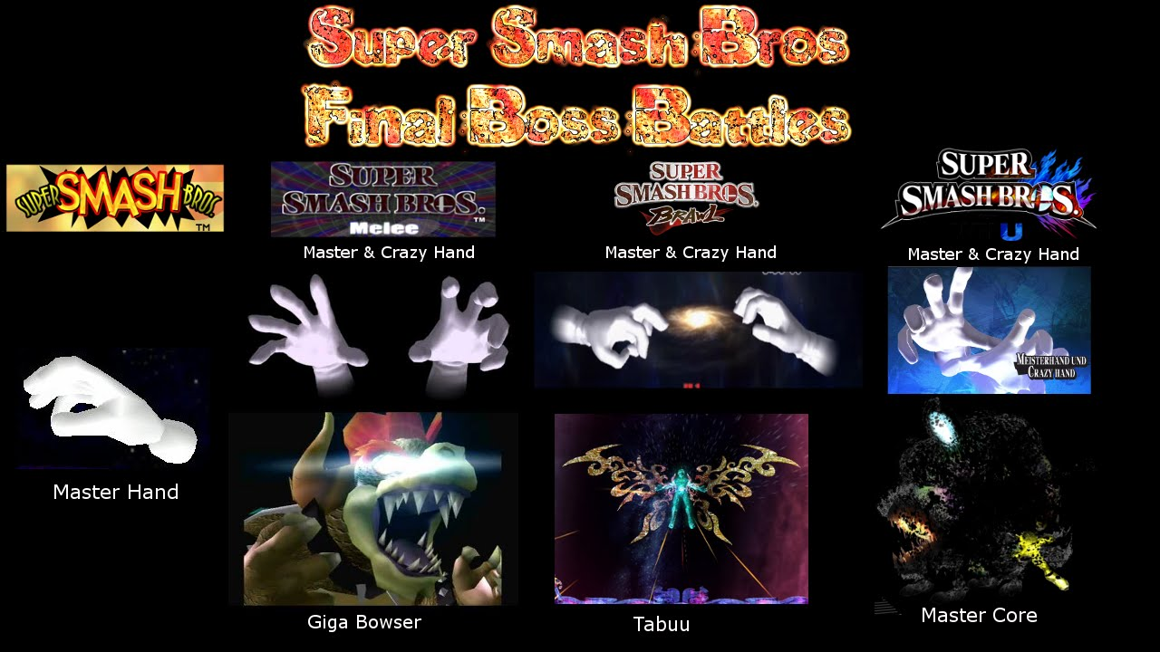 And Hand Super Master Hand Bros Crazy Smash