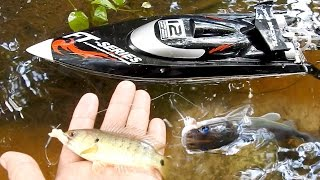 How To Fishing Using RC Boat In Cambodia