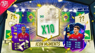 WHAT A CARD! x10 ICON MOMENTS PACKS! 96 AWARD WINNER THIAGO & 95 GORETZKA! - FIFA 20 Ultimate Team