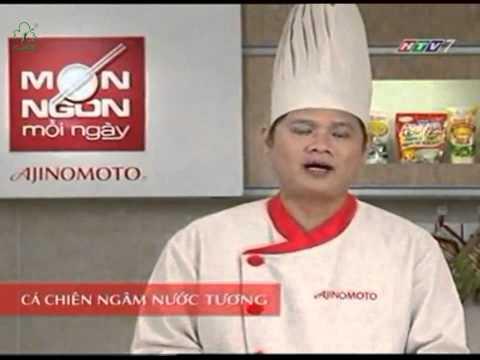 MON NGON MOI NGAY - CA CHIEN NGAM NUOC TUONG (CA ROT, HANH TAY)
