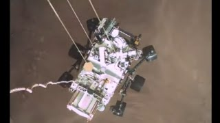 Perseverance Rover Real Descent Landing View (NASA/JPL)