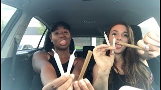 CAR HOTBOX W/ 2 BLUNTS AND 4 JOINTS - plus first time smoking weed story!