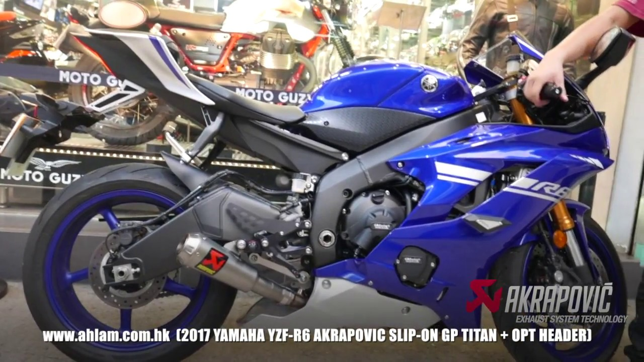 Akrapovic 17 YZF R6 GP Slip On Header By Ahlamhk