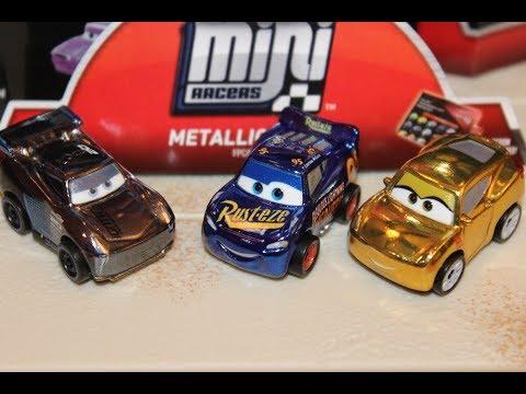 Disney Pixar Cars Diecast Mini Racers Metallic Lightning McQUEEN Collectible Toy