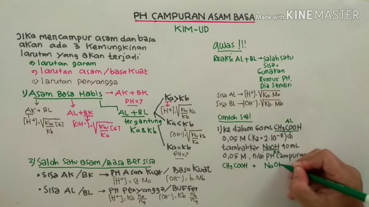 PH CAMPURAN ASAM BASA - YouTube
