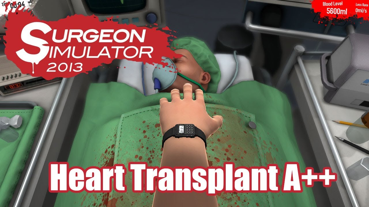 surgeon simulator 2013 heart transplant a youtube