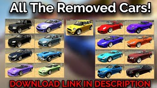 All The Removed Cars in Car Parking Multiplayer! Dodge Viper, Lexus ISF, Aston Martin, and MORE!