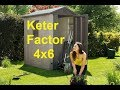 Keter Factor 4x6 Outdoor Garden Storage Shed מחסן גינה פקטור 4*6 כתר