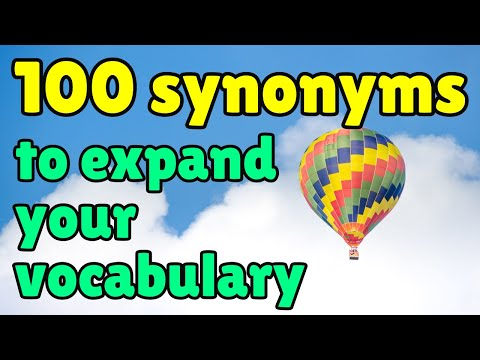 100 Synonyms to Expand Your English Vocabulary