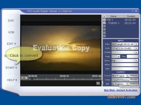 How to rip dvd to audio--iSofter DVD-Audio Ripper Deluxe