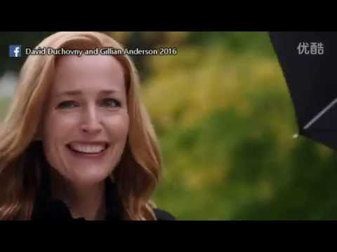 David Duchovny and Gillian Anderson - Bloopers moments Season 10