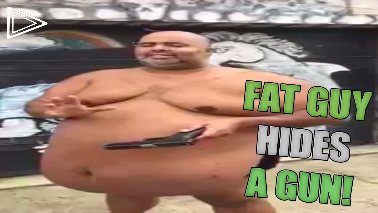 Fat Guy Hides A Gun - Youtube-5613