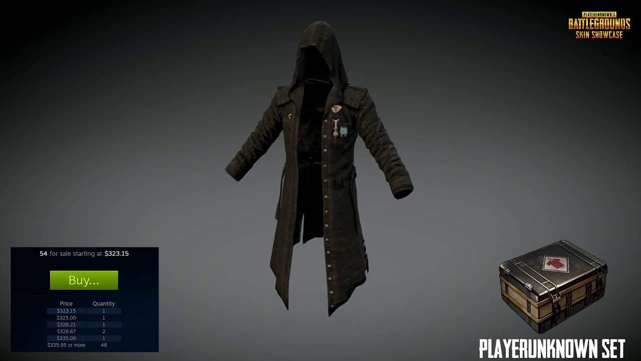 Playerunknown S Trenchcoat Skin Showcase Youtube