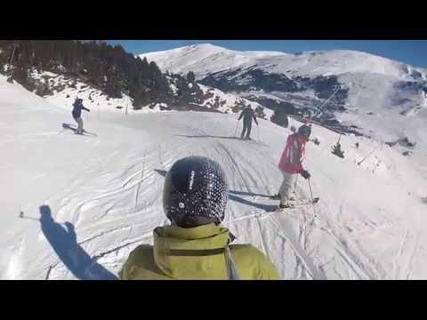 Skiing in Soldeu, Andorra, 2014