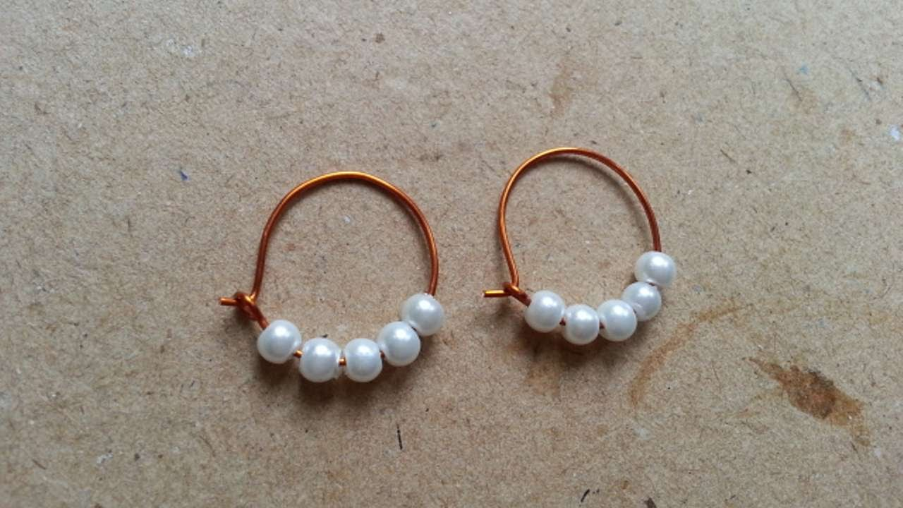 How To Make Beaded Hoop Earrings Diy Style Tutorial Guidecentral