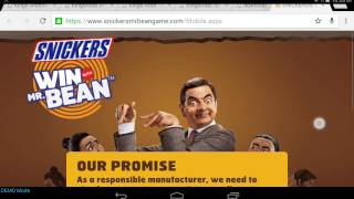 How to download snickers Mr Bean game