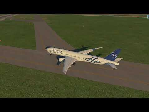 X-PLANE 11 Boeing 777-300ER Amsterdam (EHAM) to Paris (LFPG)