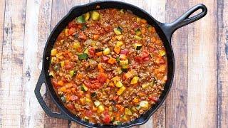 All Meat And Veggie Chili - No Bean Chili Recipe