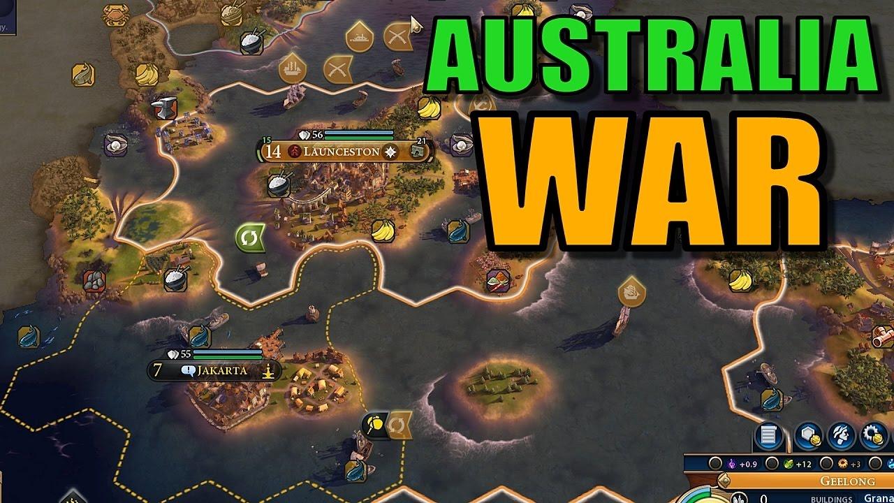 Civ 6: Australia Gameplay [True Start Earth Map] Let's Play