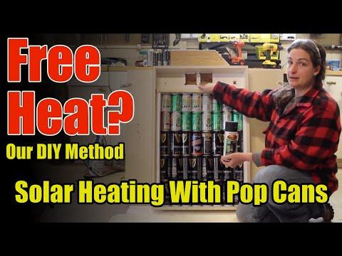 Free Solar Heat From Pop/Soda/Beer Can Heater