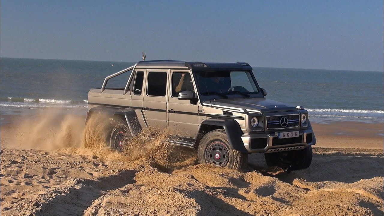 Mercedes X Off Road >> Mercedes-Benz G63 AMG 6x6 - Off Road Beach Driving!! - YouTube