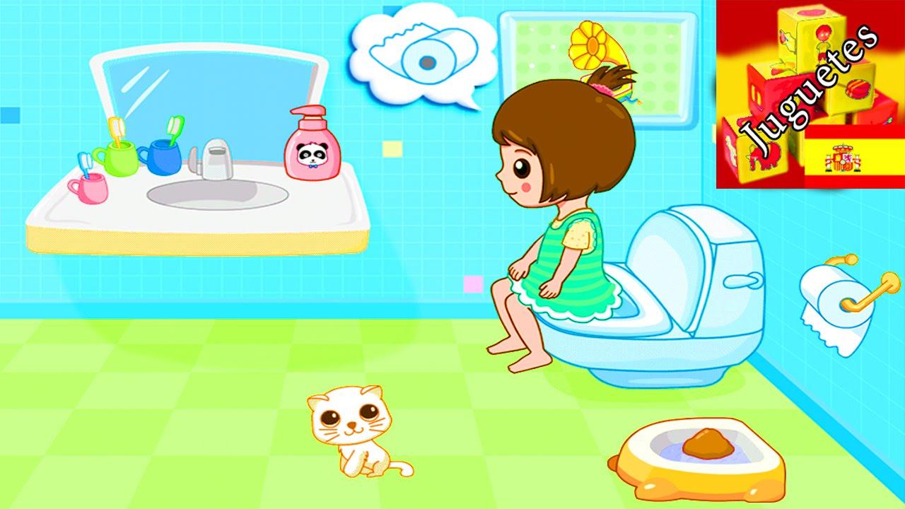 Baby panda vamos al ba o apps juegos ayudamos a - Infusiones para ir al bano ...