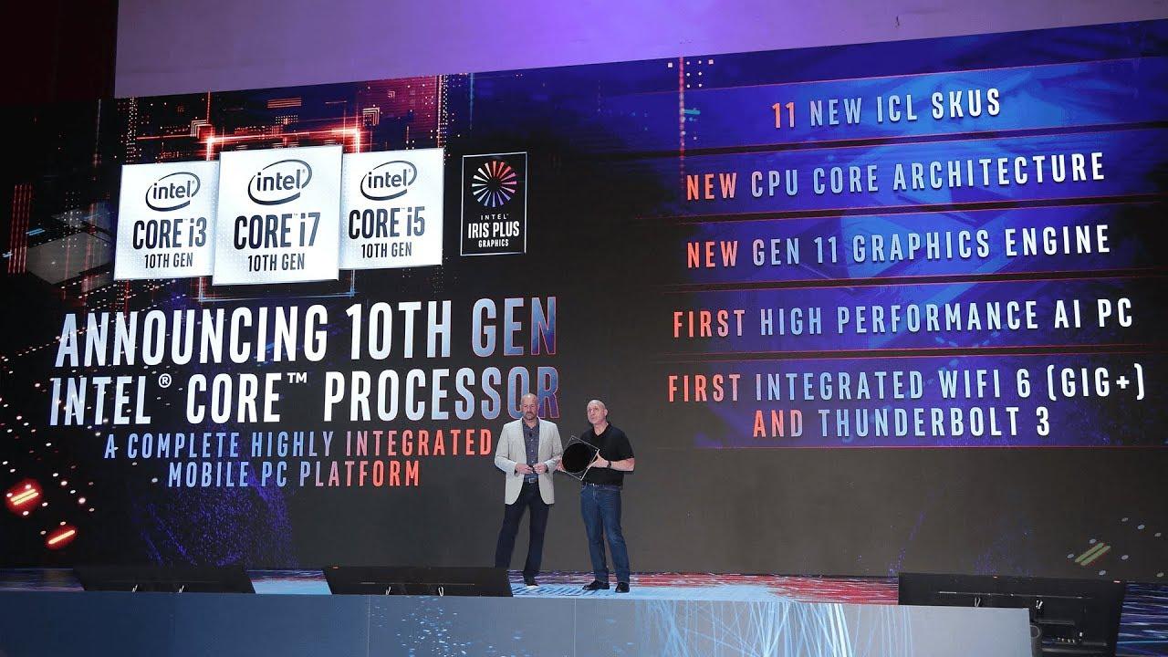 Intel Keynote @ Computex 2019 - Intel 10th Gen CPU - Ice Lake 10nm - Iris  Plus Graphics - & More