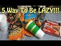 5 Simple Ways To Be Lazy (Tips and Tricks) Household Life Hacks And Tips For Lazy People   Nextraker