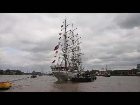 Traveling to and boarding the Christian Radich at Tall Ships Festival 2017 Maritime Greenwich