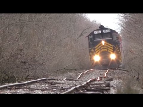 Blasting down bad track Doubleheader on the ND&W Railway (Ma