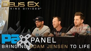 Recorded at PAX Prime 2015 this panel with the Deus Ex Mankind Divided team centers around Adam Jensen  his story his portrayal and his design