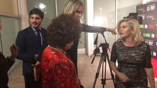 Gina Lollobrigida arrives to ICIL in Beverly Hills