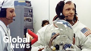 Moon landing: Neil Armstrong's Apollo 11 spacesuit goes on display