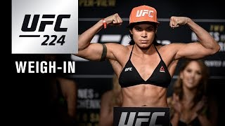 UFC 224: Official Weigh-in Video and Results
