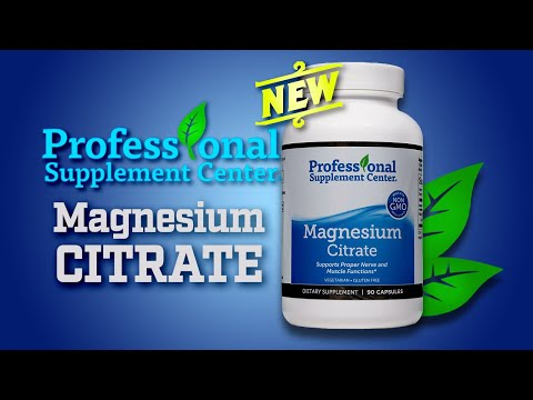 Magnesium Citrate - Pharmaceutical Grade Magnesium Supplement