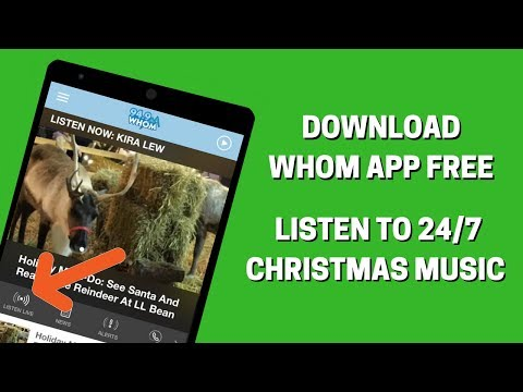 Download the WHOM App to Listen to Christmas Music