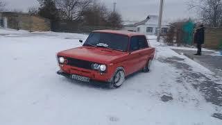 Ваз 2106 Зимний дрифт по снегу  от души!!!!!!