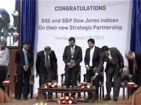 Announcement of Strategic Patnership between BSE and S&P Dow Jones Indices