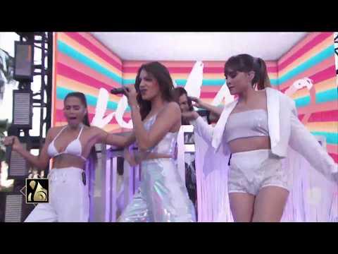 Aitana, Ana Guerra y Greeicy Rendón cantan Lo Malo en la alfombra morada de los Premio Lo Nuestro