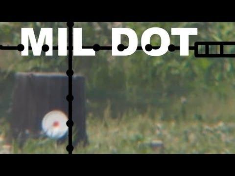 Mil Dot Target Shooting Range Estimation Youtube