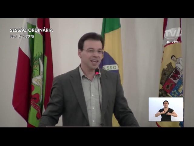 08/08/2019 - Pronunciamento Sessão Ordinária