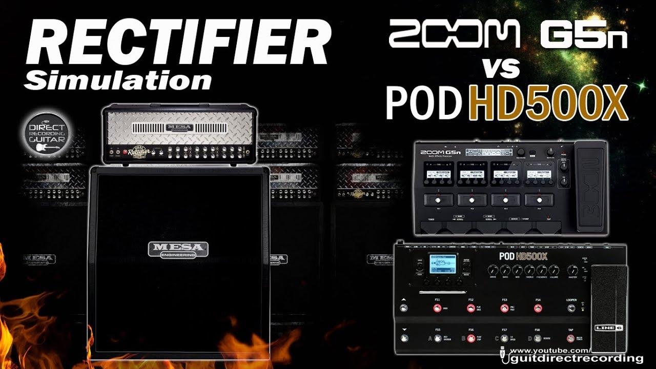 Download ZOOM G5n vs POD HD500X RECTIFIER Distortion / Mono Tracks.