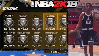 NBA 2K18 Earning Badges Online - No Grand Badge?! ROAD TO 99 - Immortalized In NBA 2K19?!