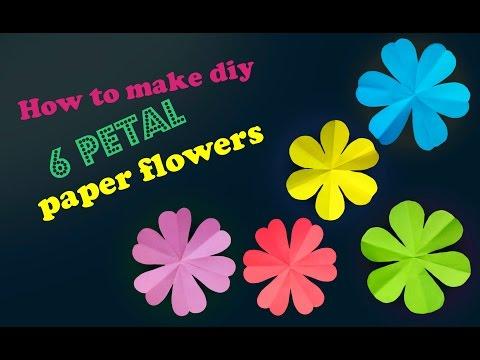 How to make DIY 6 petal paper flowers