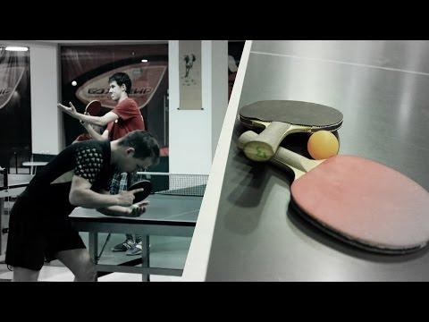 Liu Guoliang и Ma Long играют в mini настольный теннис