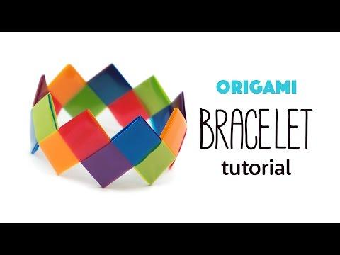 Easy Origami Bracelet Tutorial - DIY - Paper Kawaii