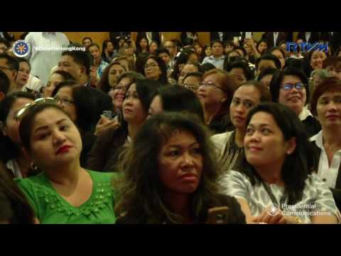 Meeting with Filipino Community in Hongkong  (Speech) 5/13.2017