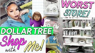NEW DOLLAR TREE SHOP WITH ME 🎄 🏃‍ WORST DOLLAR TREE IN PHILLY! Sensational Finds