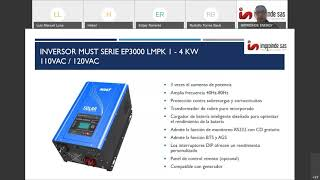 Inversores Hibridos MUST series EP3300, VHM, LHM, LMPK 2020