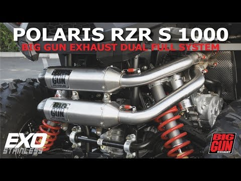 polaris rzr s 1000 big gun exhaust exo stainless dual full system